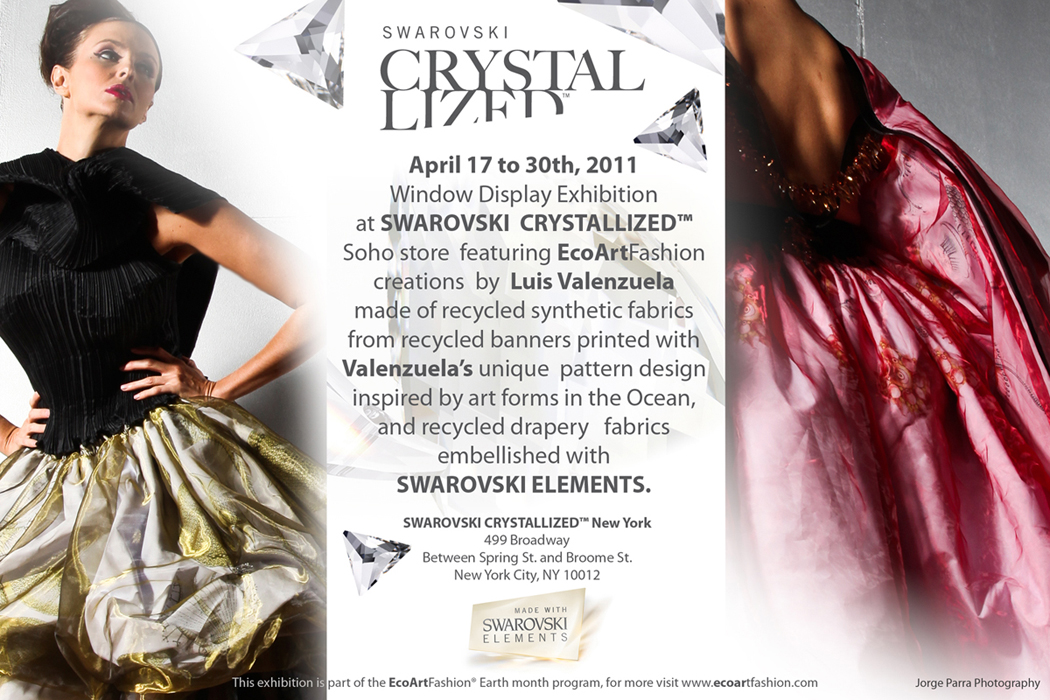 EcoArtFAshion at SWROVSKI CRYSTALIZED Stored Soho Earrth Month Event 2011